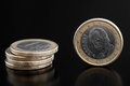 Detail one euro coin Stock Photo