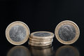 Detail one euro coin Stock Photos