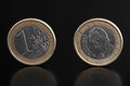 Detail one euro coin Stock Images