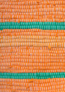 Detail of orange with green rag rug Royalty Free Stock Photo