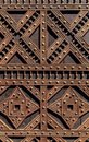 Detail from an ornate church door Royalty Free Stock Photo