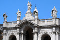 Detail of the papal basilica of saint mary major papale di santa maria maggiore largest roman catholic marian church Stock Image