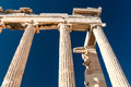 Detail of Parthenon temple Acropolis Royalty Free Stock Photos