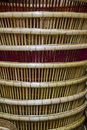 Detail of pattern basketwork handmade Stock Photo