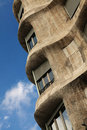 Detail of Pedrera/Casa Mila Stock Photography