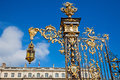 Detail of the place stanislas in nancy france Royalty Free Stock Photos