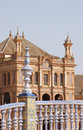 Detail of Plaza de Espana in Seville Royalty Free Stock Images