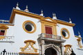 Detail of plaza de Toros, Sevilla, Spain Stock Images