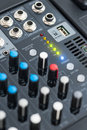 Detail of a Professional Mixing Console Royalty Free Stock Photo