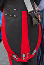 Detail of a protocol uniform of an Italian soldier Royalty Free Stock Photo