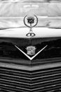 Detail of the radiator grille and emblem cadillac coupe de ville berlin may black white th oldtimer tage berlin brandenburg Royalty Free Stock Photography