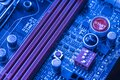 Ram memory dimm in a motherboard 4 Royalty Free Stock Photo