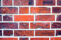 Detail of a red brickwall from an old church Royalty Free Stock Photography