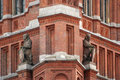 Detail of the Red Town Hall Royalty Free Stock Image