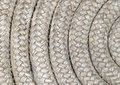 Detail of a reel of an old twisted nautical rope Stock Image