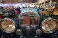 Detail of retro car bentley litre maastricht netherlands january international exhibition interclassics topmobiel Royalty Free Stock Photos