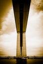 Detail of the Rio-Niteroi bridge Stock Photography