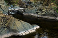 Detail of rocks in water at black river gorge west serbia Stock Photo