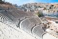 Detail of Roman amphitheater in Amman,  Jordan Stock Photos