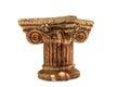 Detail of a Roman column Royalty Free Stock Photo
