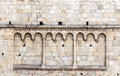 Detail of the romanesque church seo urgell in spain Royalty Free Stock Image