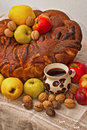 Detail of a romanina traditional bread Royalty Free Stock Images