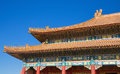 Detail of a roof at the Forbidden City, Beijing Royalty Free Stock Photo