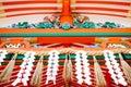 Detail roof fushimi inari kyoto japan Royalty Free Stock Photos