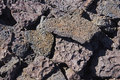 Detail, rough lava from ancient volcanic eruption, Stock Image