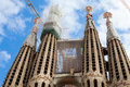 Detail of Sagrada Familia (Holy Family) Royalty Free Stock Photo