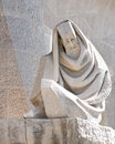 Detail of sagrada familia sculpture, barcelona Royalty Free Stock Photo