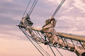 Detail of a sailing ship Royalty Free Stock Photo