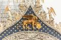 Detail of Saint mark basilica at Venice,Italy. Royalty Free Stock Photo