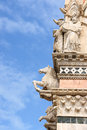 Detail of siena cathedral in italy duomo di tuscan gothic style tuscany this is dedicated to most holy mary Stock Image