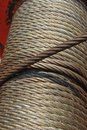 Detail slings winch construction Royalty Free Stock Photos