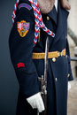 Detail of soldier protecting Prague Castle Royalty Free Stock Image