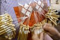 Detail spanish bobbin lace Royalty Free Stock Photography