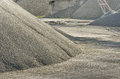 Detail of a stack of gravel in an italian quarry Royalty Free Stock Image