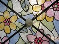 Detail of stained glass panel Royalty Free Stock Photo