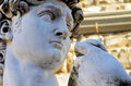 Detail of statue of David by Michelangelo Royalty Free Stock Photo