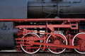 Detail of a steam locomotive - RAW format Royalty Free Stock Photo