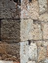 Detail of Stonework on Old Monemvasia Building, Greece Royalty Free Stock Photo