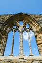 Detail on stonework at Whitby Abbey, North Yorkshire Royalty Free Stock Photo