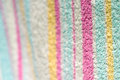 Detail of striped towel colorful macro shot Royalty Free Stock Photo