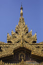Detail of Sule Pagoda Royalty Free Stock Photo