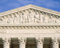 Detail from Supreme Court Building Royalty Free Stock Photo