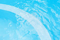 Detail of a swimming pool with both children and adult depth areas Royalty Free Stock Image