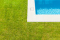 Detail swimming pool modern villa outdoor Stock Photo