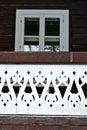 Detail švajčiarskej chaty