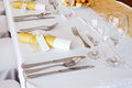 Detail of a table set Royalty Free Stock Image